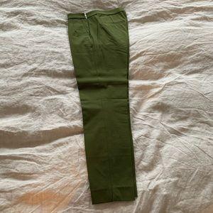 JCrew Martie Slim Crop Side Zip Pants Green size 2